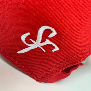 SIX FIGURES Distressed Cap - Red + Red Shield