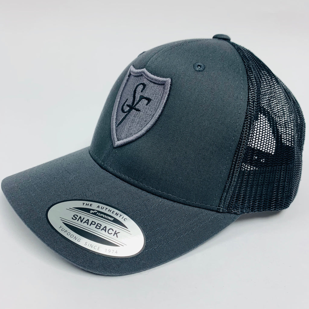 SIX FIGURES Shield Trucker Cap - Grey