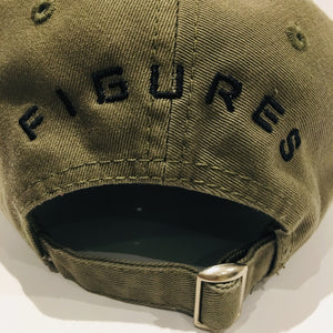 SIX FIGURES Distressed Cap - Khaki + Black
