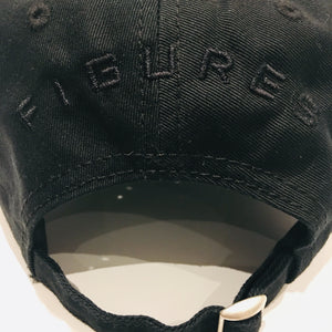 SIX FIGURES Distressed Cap - Black + Black