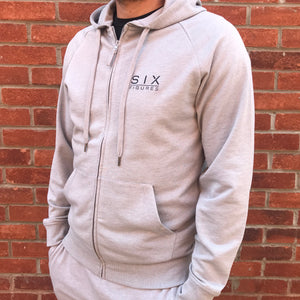 'Six Figures' Essential Hoodie - Grey