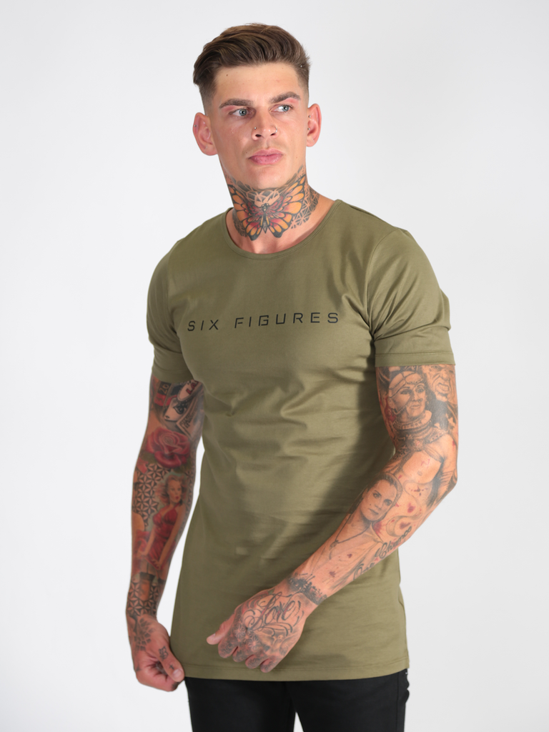 'Six Figures' T-Shirt - Khaki Green