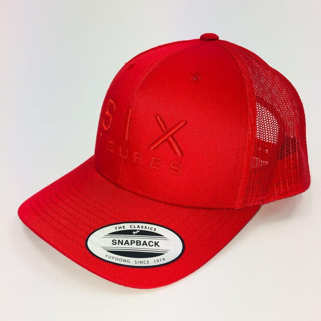 SIX FIGURES Trucker Cap - Red + Red - Six Figures Official