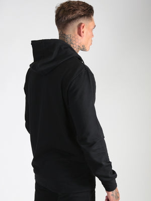 'Six Figures' Side Logo Tracksuit Hoodie - Black