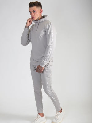 'Six Figures' Side Logo Tracksuit Joggers - Grey