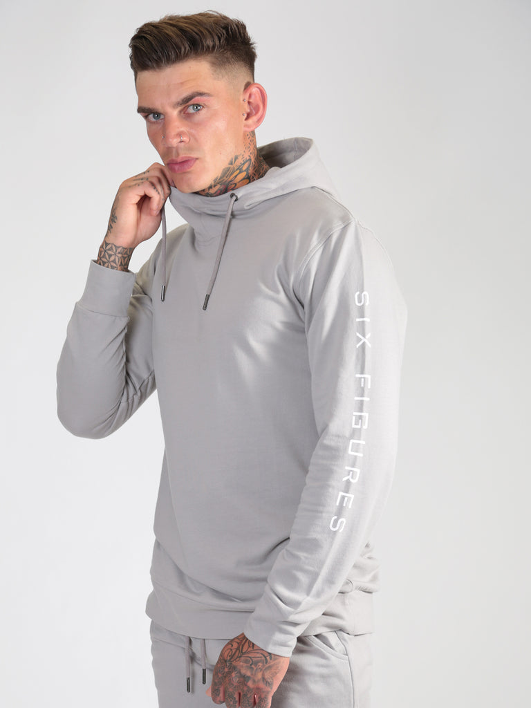 'Six Figures' Side Logo Tracksuit Hoodie - Grey