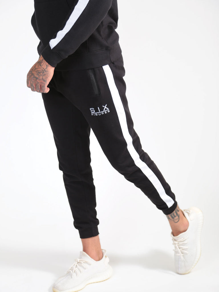 'Six Figures' Deluxe Joggers - Black