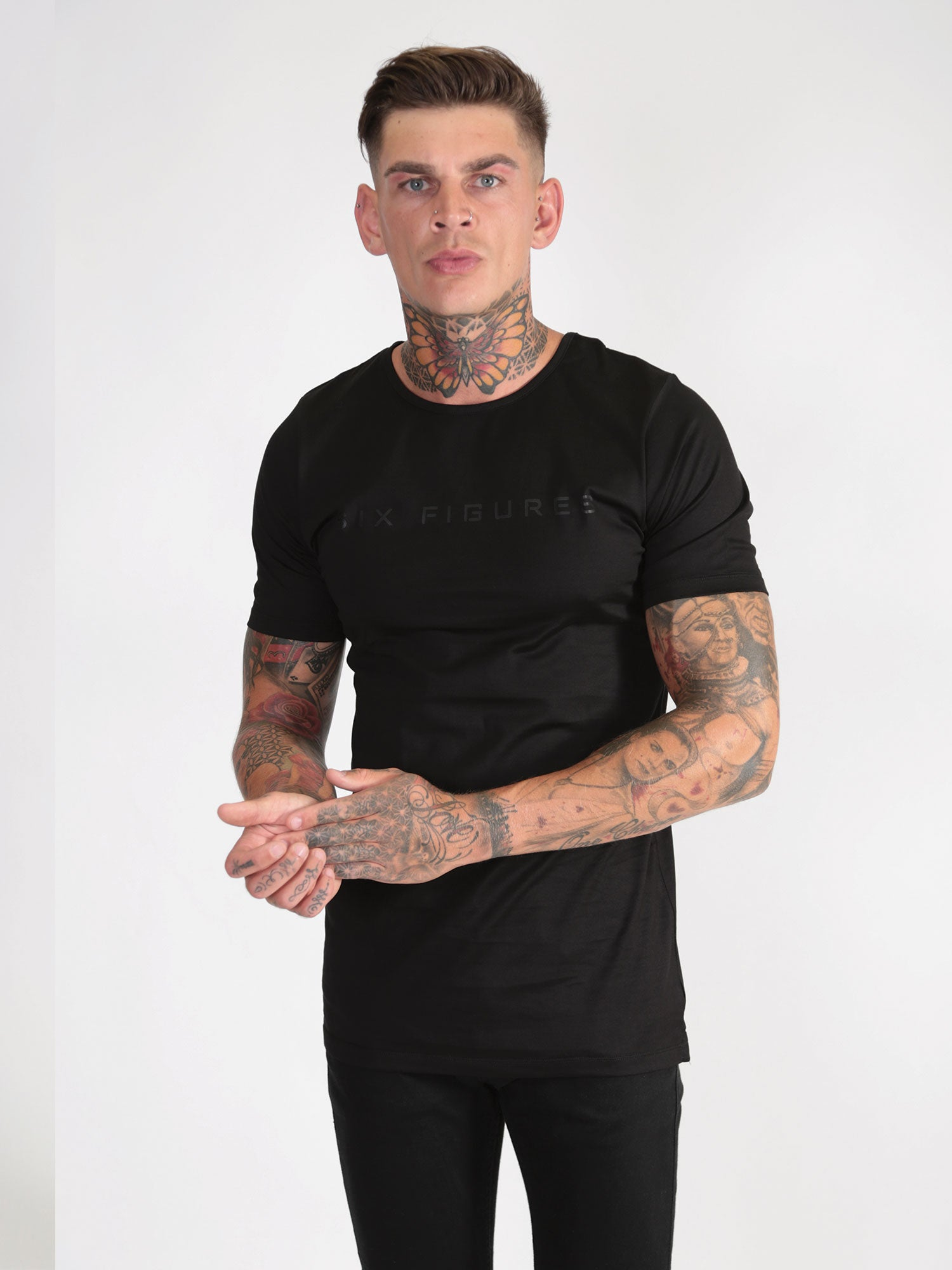 'Six Figures' T-Shirt - Black