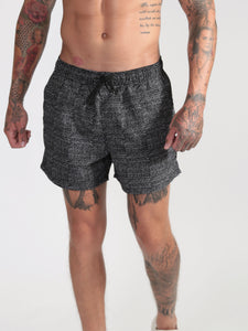 Sketch Swim Shorts - Black