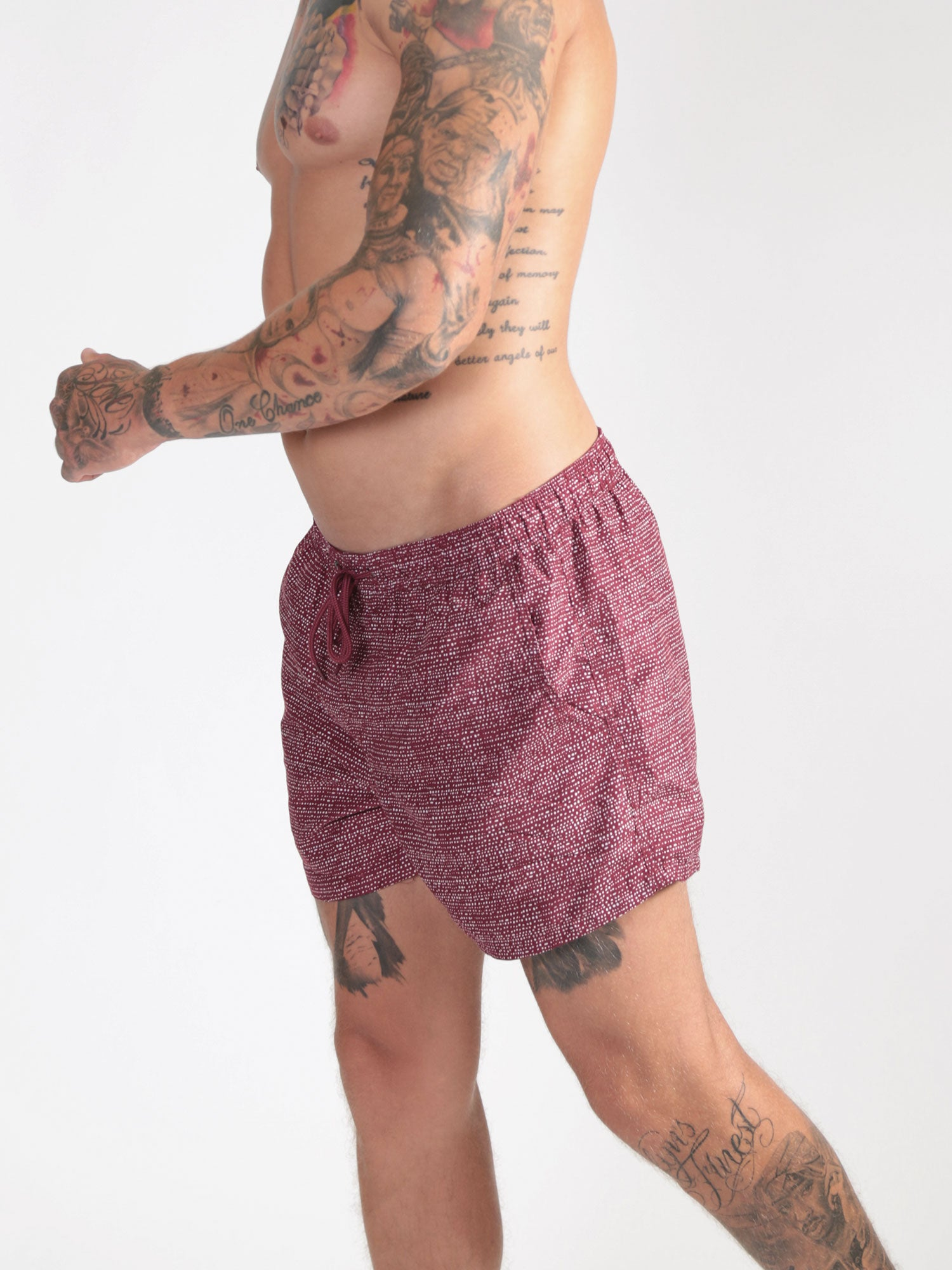 Sketch Swim Shorts - Maroon