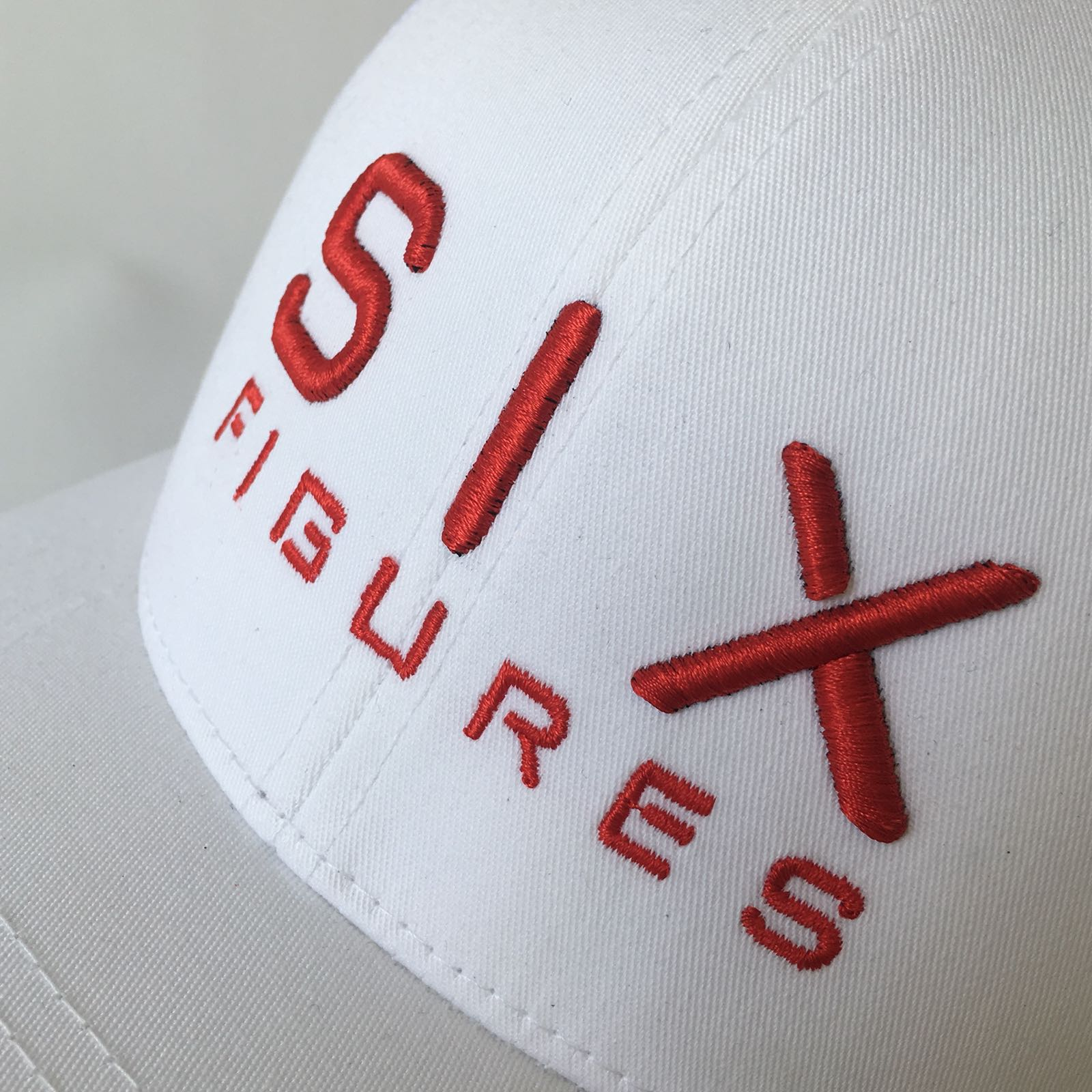 SIX FIGURES Trucker Cap - White + Red