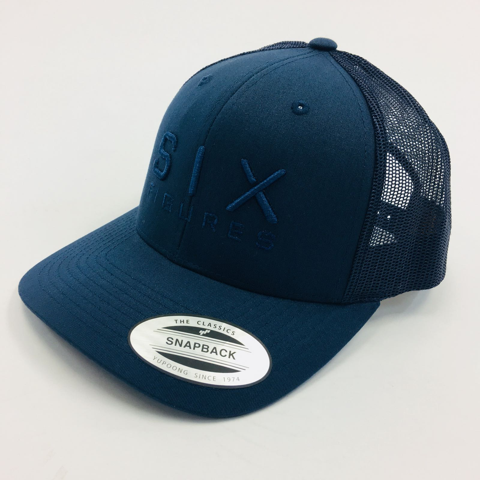 SIX FIGURES Trucker Cap - Navy + Navy - Six Figures Official