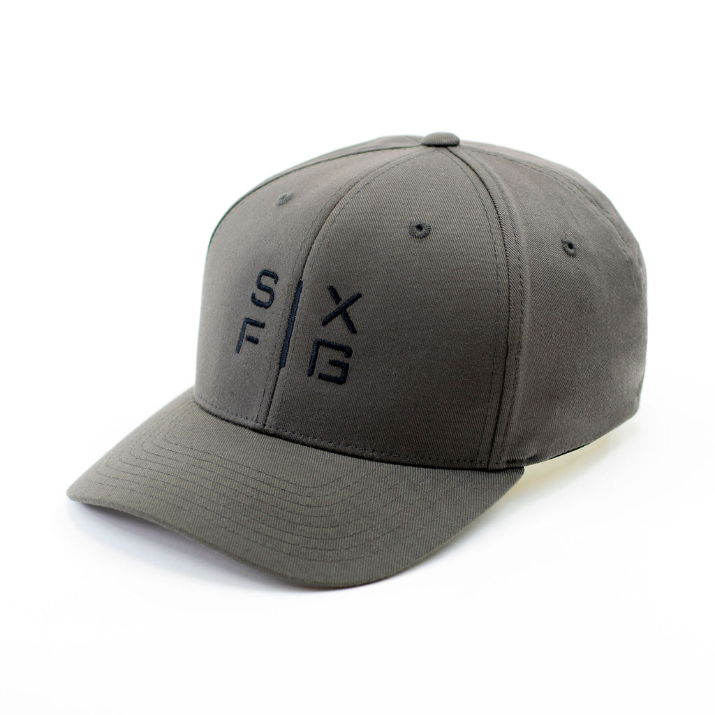 SIX FIG Baseball Cap - Dark Grey + Black - Six Figures Official