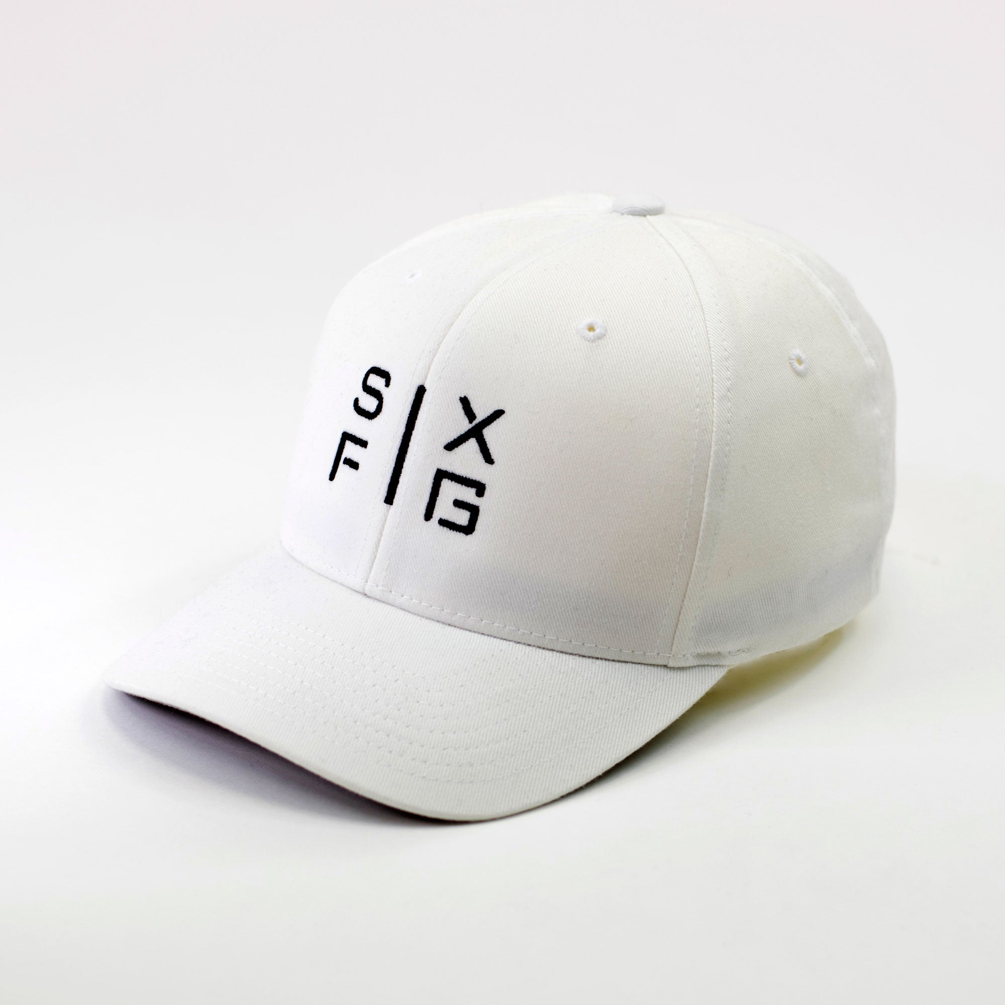 SIX FIG Baseball Cap - White + Black - Six Figures Official