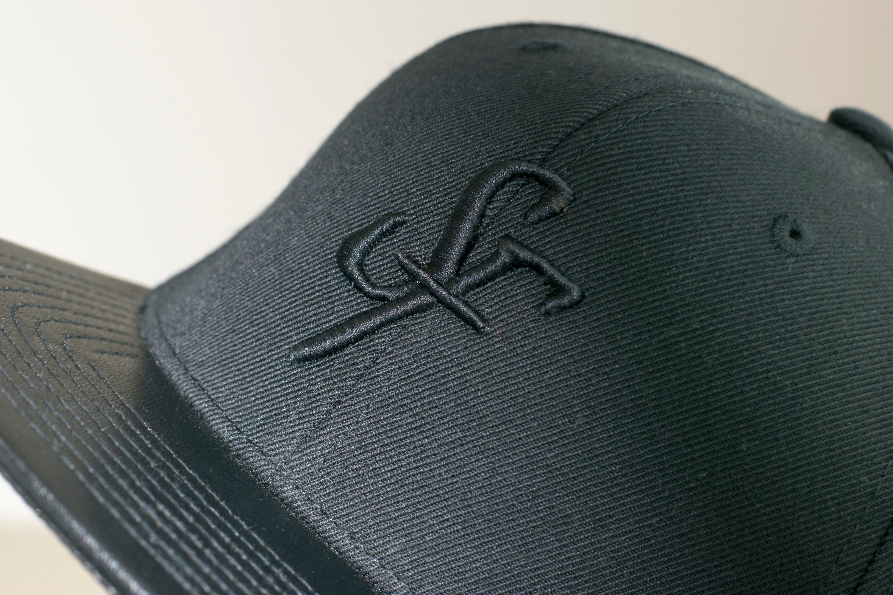 SF Leather Snapback - Black - Six Figures Official
