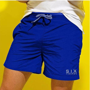 'Six Figures' Branded Swim Shorts - Royal Blue