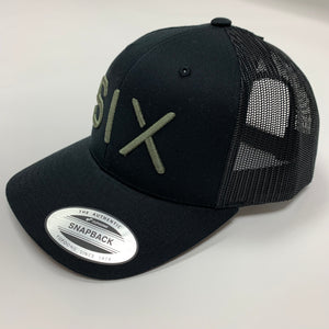 SIX FIGURES Trucker Cap - Black + Khaki
