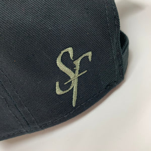 SIX FIGURES Distressed Cap - Black + Khaki