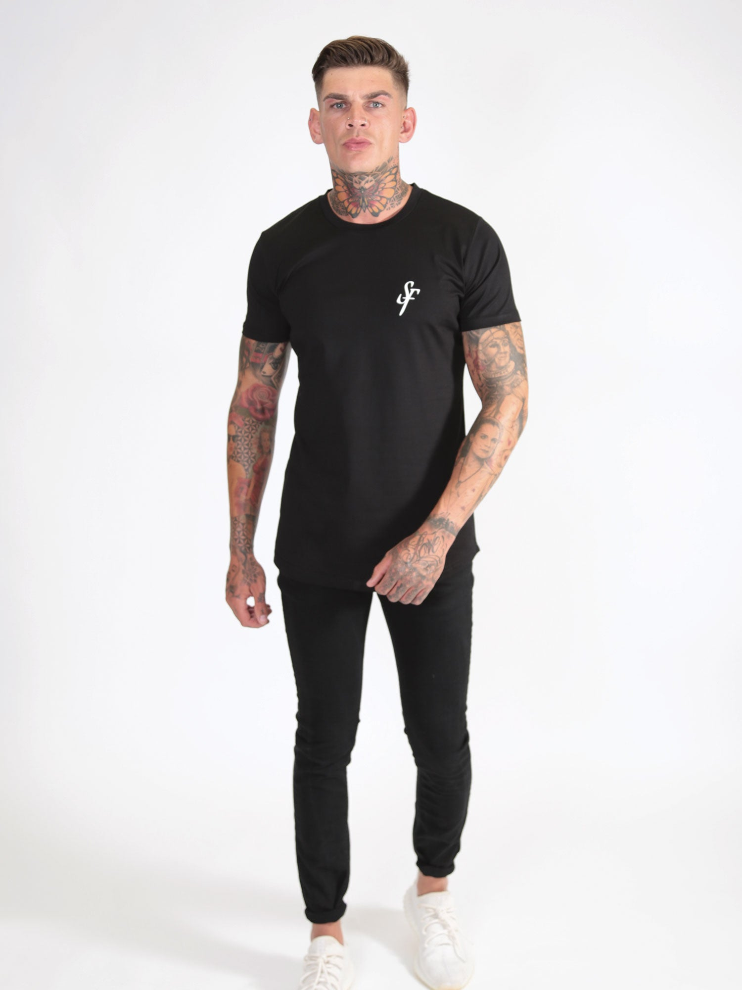 Six Figures 'SF' Logo T-Shirt - Black