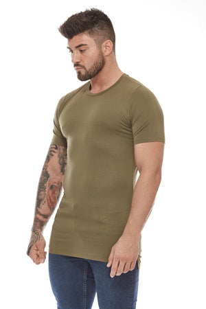 Rubber Back Logo T-Shirt - Khaki Green - Six Figures Official