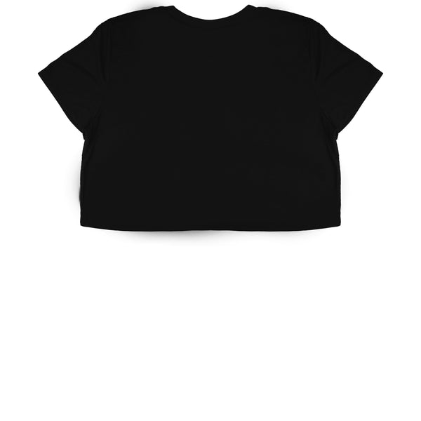 Black Cropped T-Shirt - Black