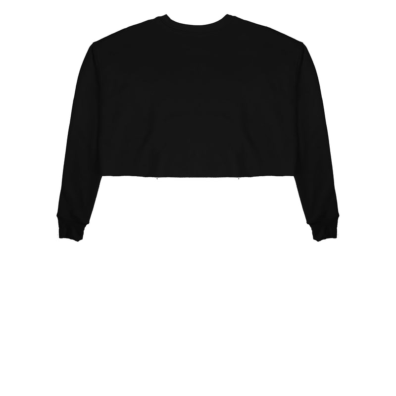 Black Cropped Crewneck