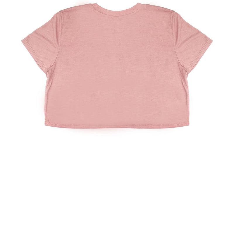 Mauve Cropped T-Shirt - Black