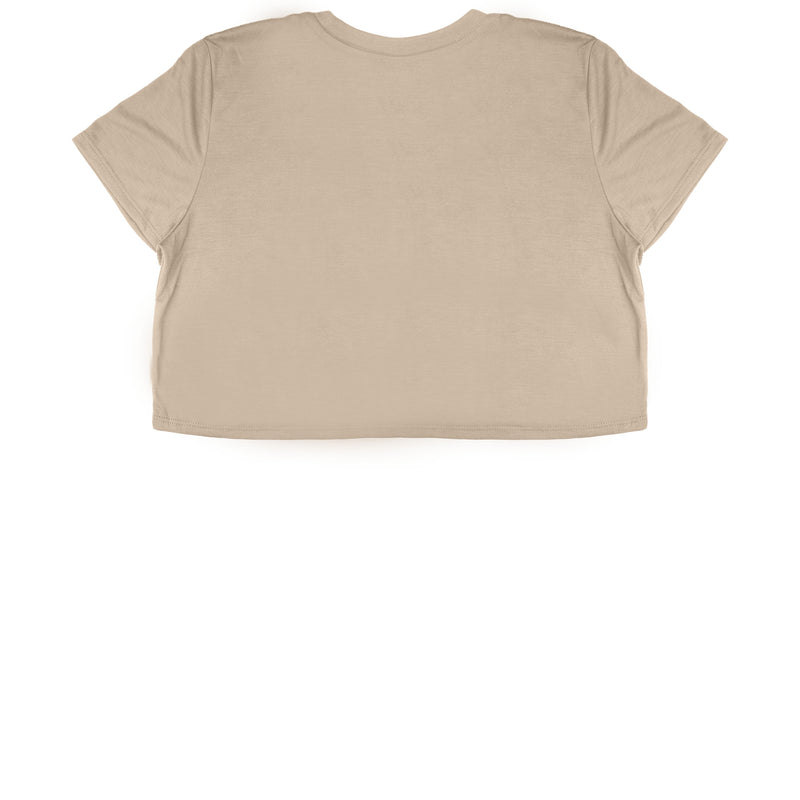 Sand Cropped T-Shirt - Black