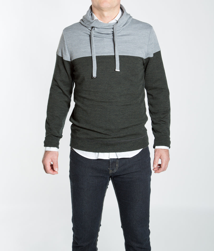 We Norwegians M-BaseTwo Men's Colored Block Hoodie Sweater
