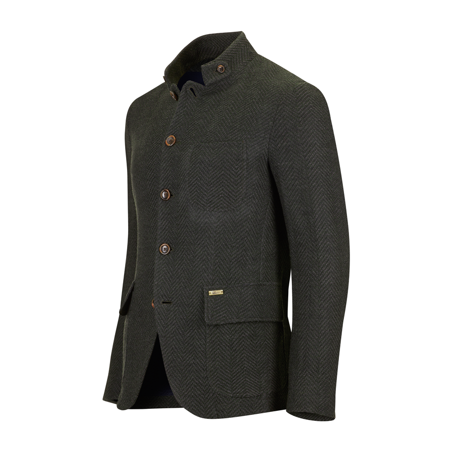Luis Trenker M-Sandro Fischgrat Gross Men's Jacket