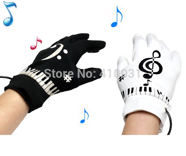 Musical Piano Glove Novelty Gift Electric Educational Toy for Kid Child Children Funny Fingertips Gadget Office Game Set Gimmick