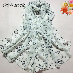 Plain maxi scarf Musical Note shawl pashmina hijab scarf muslim for women lady girl wholesale Muffler Scarves #204
