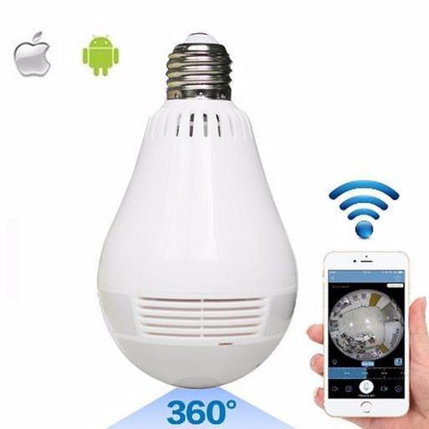 360 Degree HD Wifi Security Camera Bulb