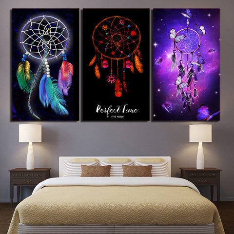 LIMITED EDITION DREAMCATCHER 3-PIECE CANVAS PAINTING
