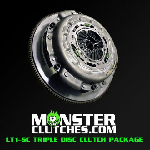 Monster Clutch LT1-SC Triple Disc Clutch rated at 1500RWHP/1500RWTQ 2016+ Canaro SS/ZL1