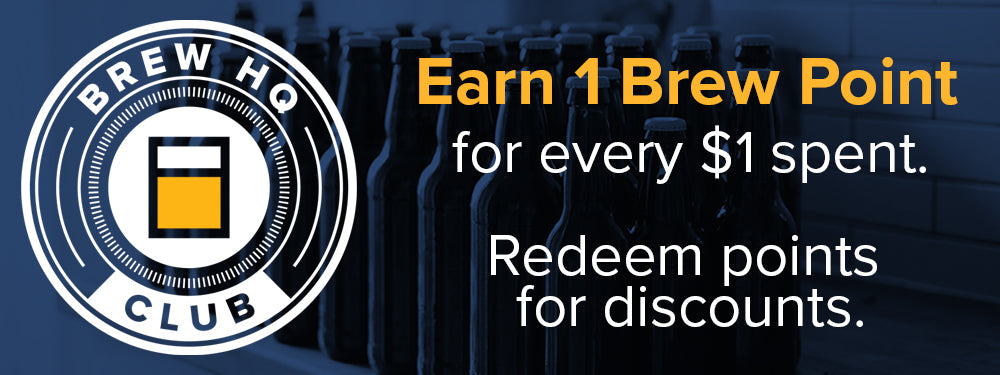 BrewHQ Club - Get 1 Brew Point for every $1 you spend.