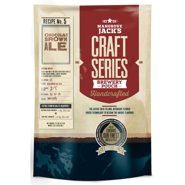 Mangrove Jack's Craft Series Beer Pouch - Chocolate Brown Ale