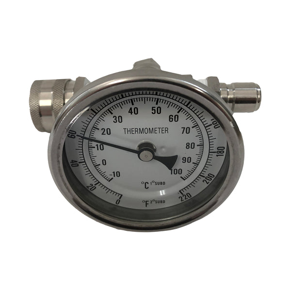 Inline Thermometer With Quick Connects
