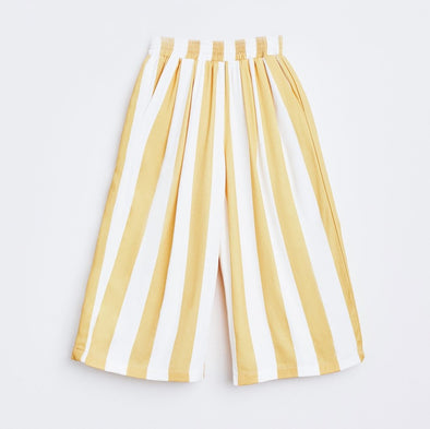 Mustard Lines Culotte Pants