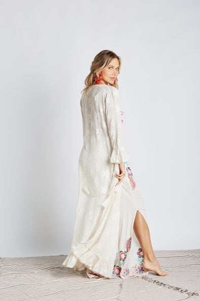 Star Net White Duster