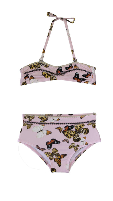 Pink High Waisted Butterfly Bikini