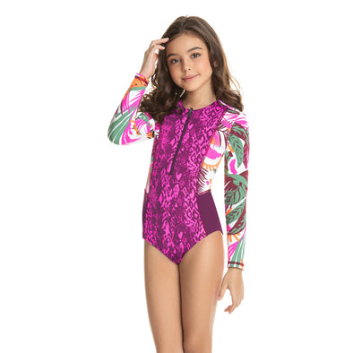 Tiki Island Long Sleeve Swimsuit