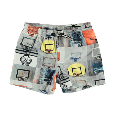 Niko Basket Check Swim Trunks