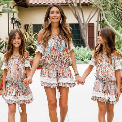 Francesca Floral Coverup Dress for Girls
