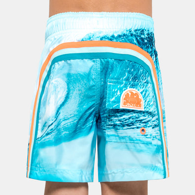 Wave Print Swim Shorts