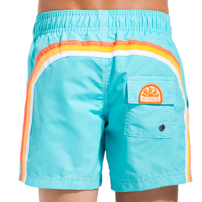 Waterfall Elastic Waist Swim Shorts