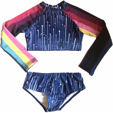 Rainbow Revolution Cropped Rashguard Set