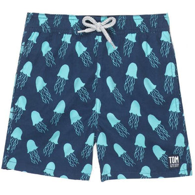 Blue Jellyfish Swim Trunks
