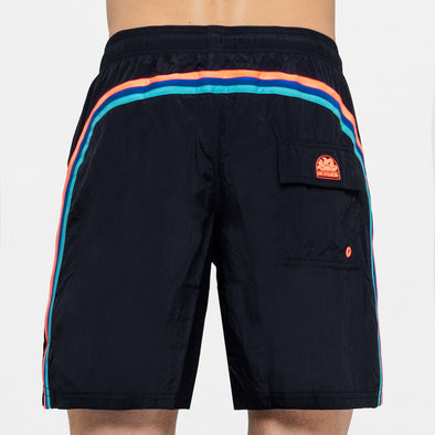 Men's Dark Navy Elastic Waist Swim Short