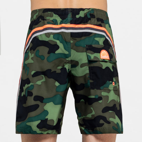 Men's Camouflage Print Board Short